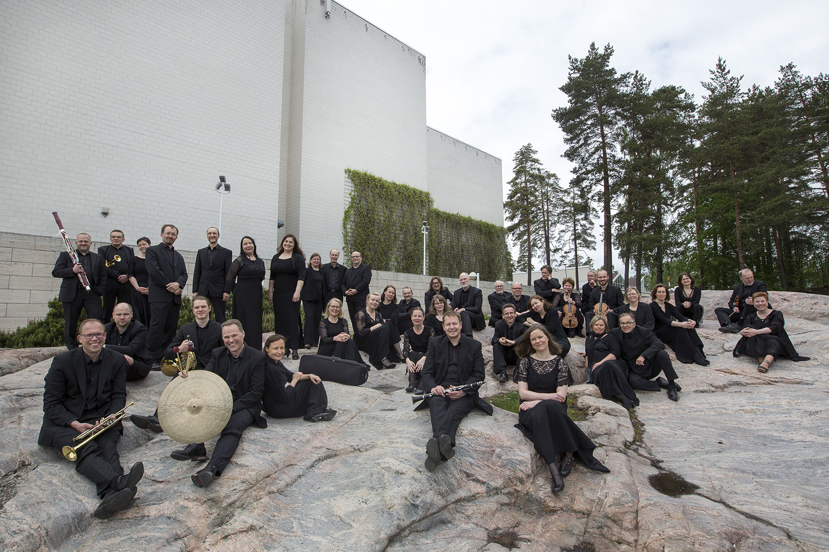 Tapiola Sinfonietta consists of 43 musicians. Photo: Olli Häkämies.