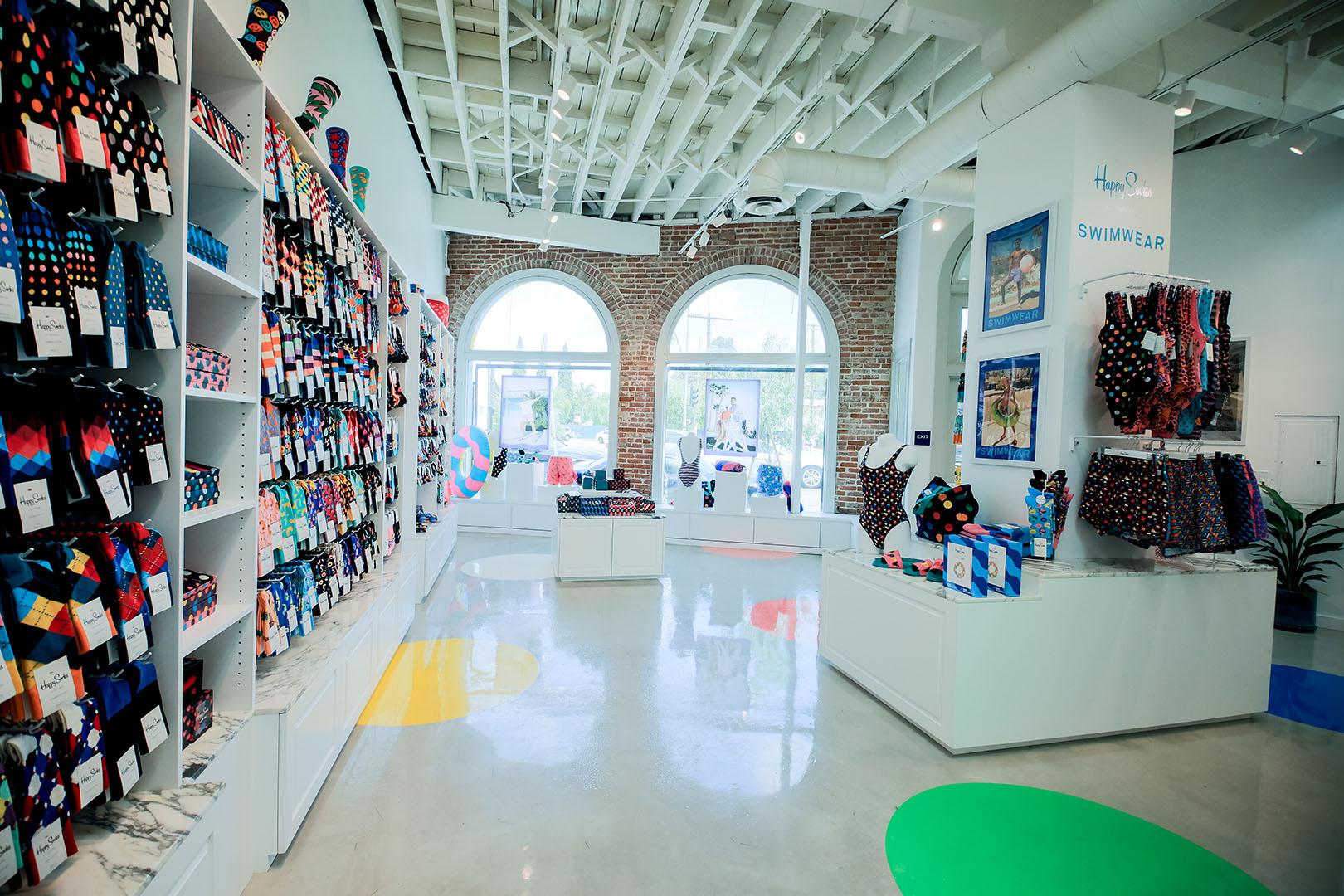 Happy Socks shop interior
