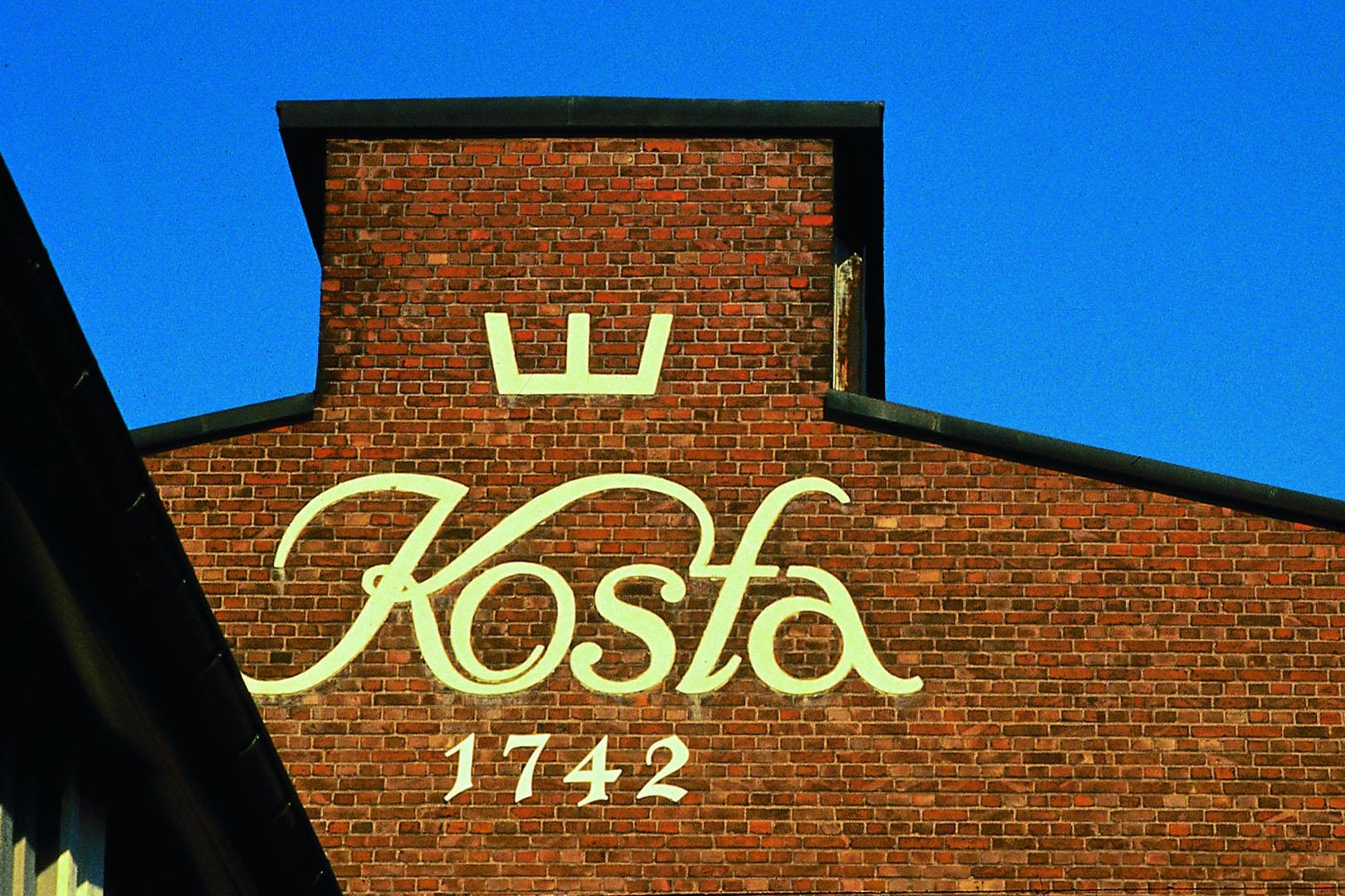 Kosta glassworks was founded in 1742