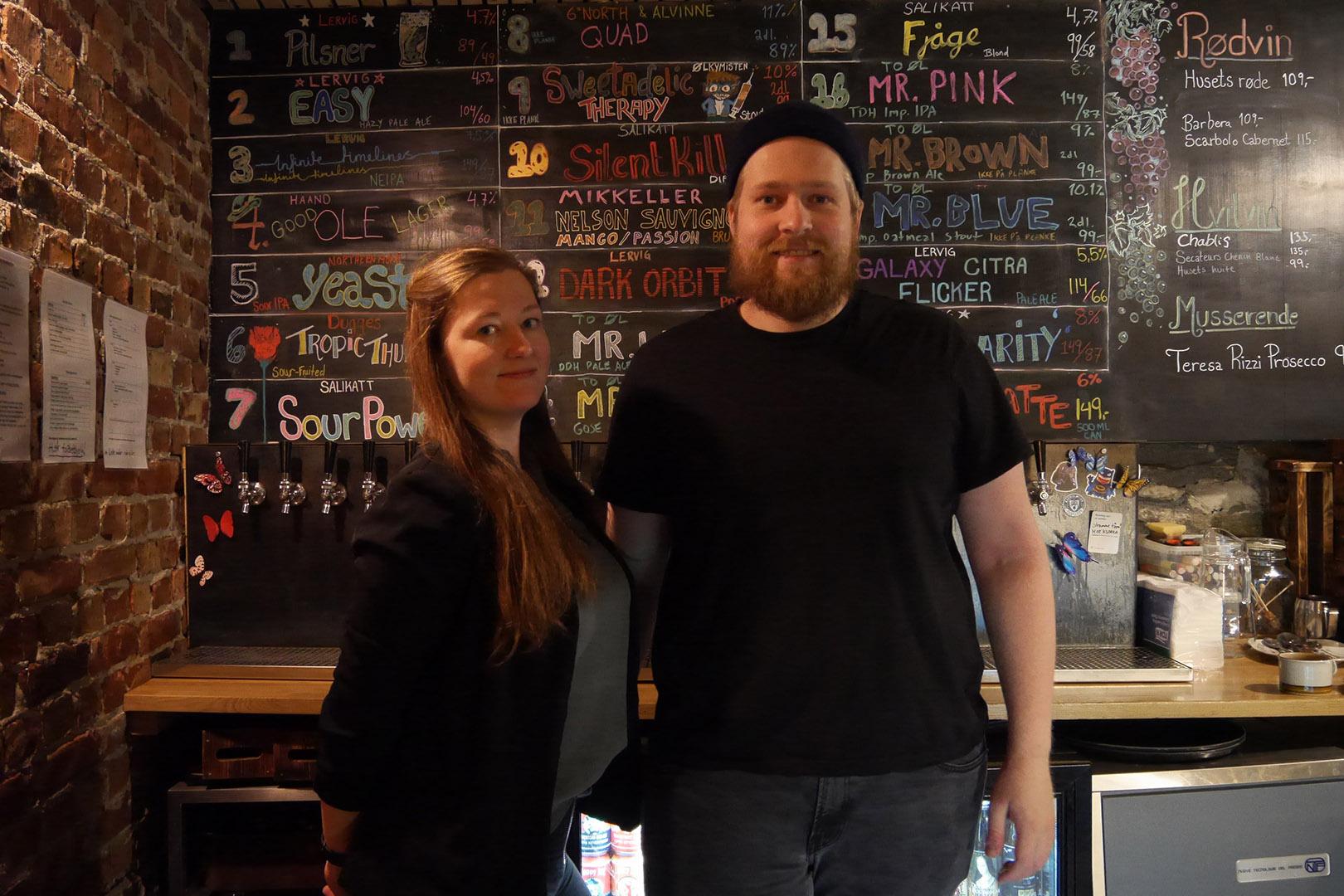 På Kornet Manager Rebecca Haziraj and kitchen manager Petter H. Korneliussen.