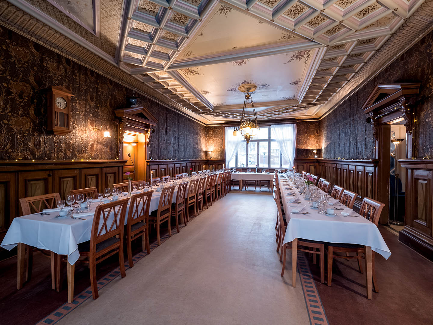 Restaurant Bacchus and Svenska Klubben, the beautiful decor of the room gives every event a luxurious feel