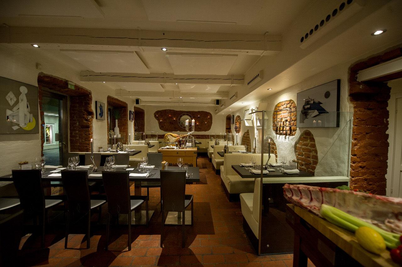 Restaurant Mancini, La Gastronomia Italiana, restaurant interior, Scan Magazine, August 2019