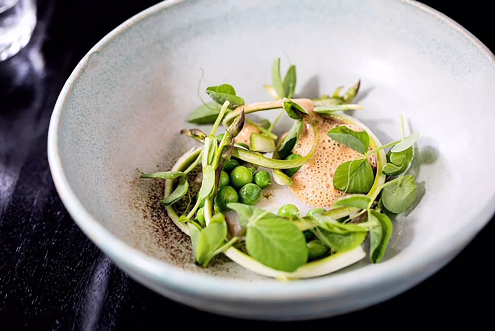 Restaurant Ros, A recipe for success, Cod with peas and a shellfish bisque