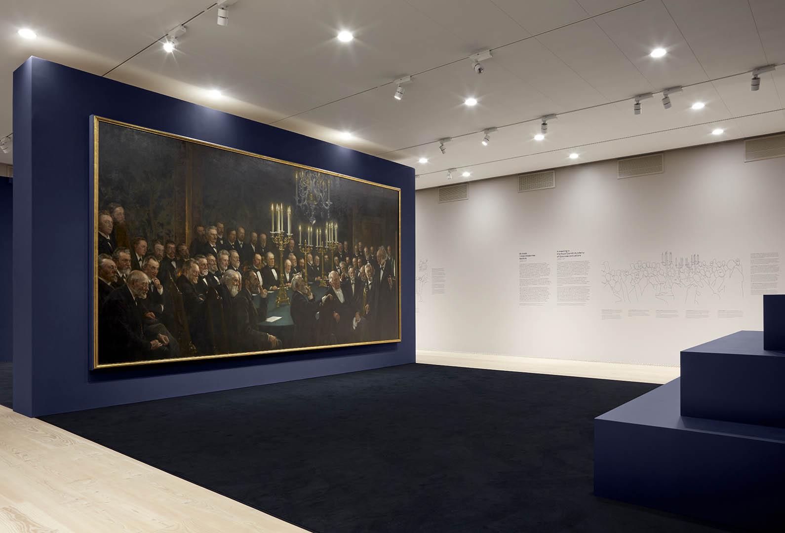 Udstillingen 'MESTERVÆRKER – Krøyer på bestilling' på Skagens Museum. Installation view