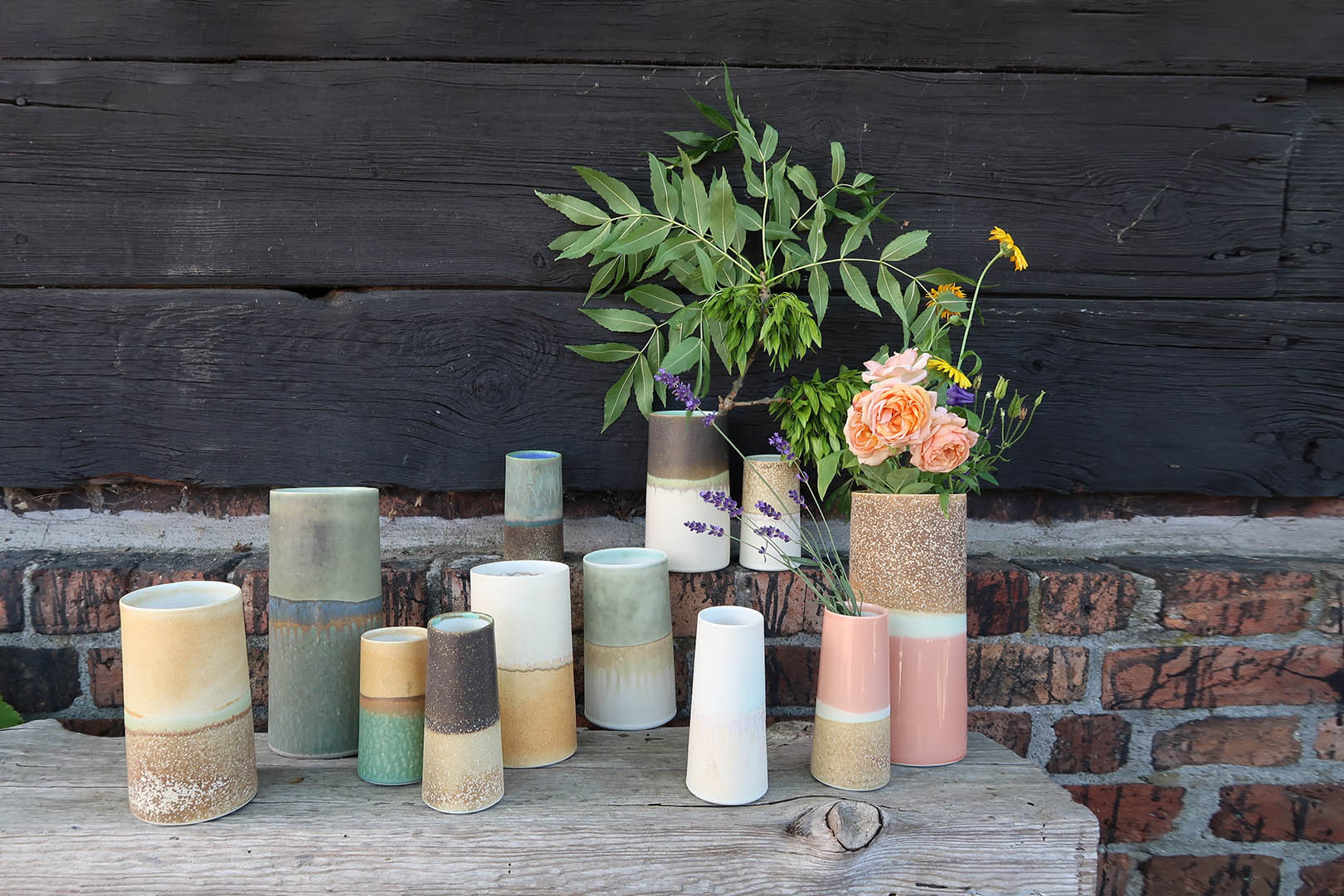 The Sustainable vases are made with leftover materials, and no two vases are the same, photo by WAUW Design