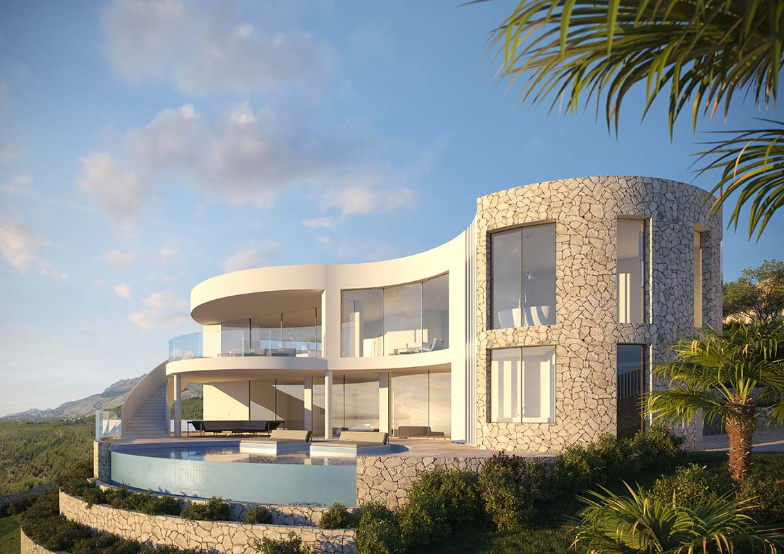 Villa Altea, Exclusive design, circa 350 square metres, Spain. Photo: Ossian Tove, Ross Architecture & Design: Built to last, Scan Magazine