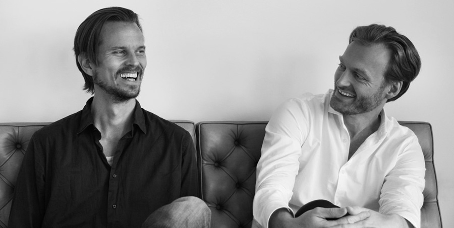 Anders Lind (left) and Thomas Tulinius founded their firm, Tulinius Lind, after winning first prize for their proposal for the school and activity house in Våler, Norway.